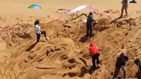 Imágenes de Semana Santa grabadas sobre las dunas de Oruro