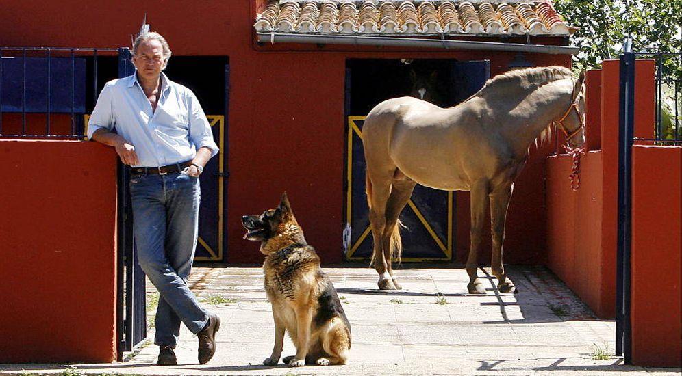 Foto: Bertín en su finca de Sevilla. (Gtres)