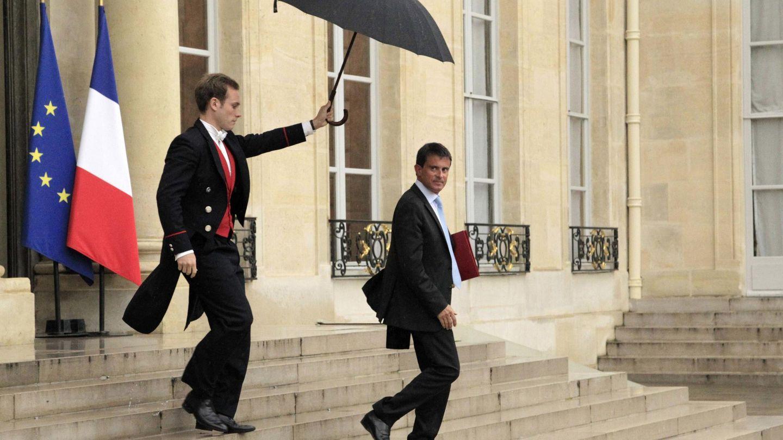 Valls a la conclusión de una cita en el Palacio del Elíseo, en París.