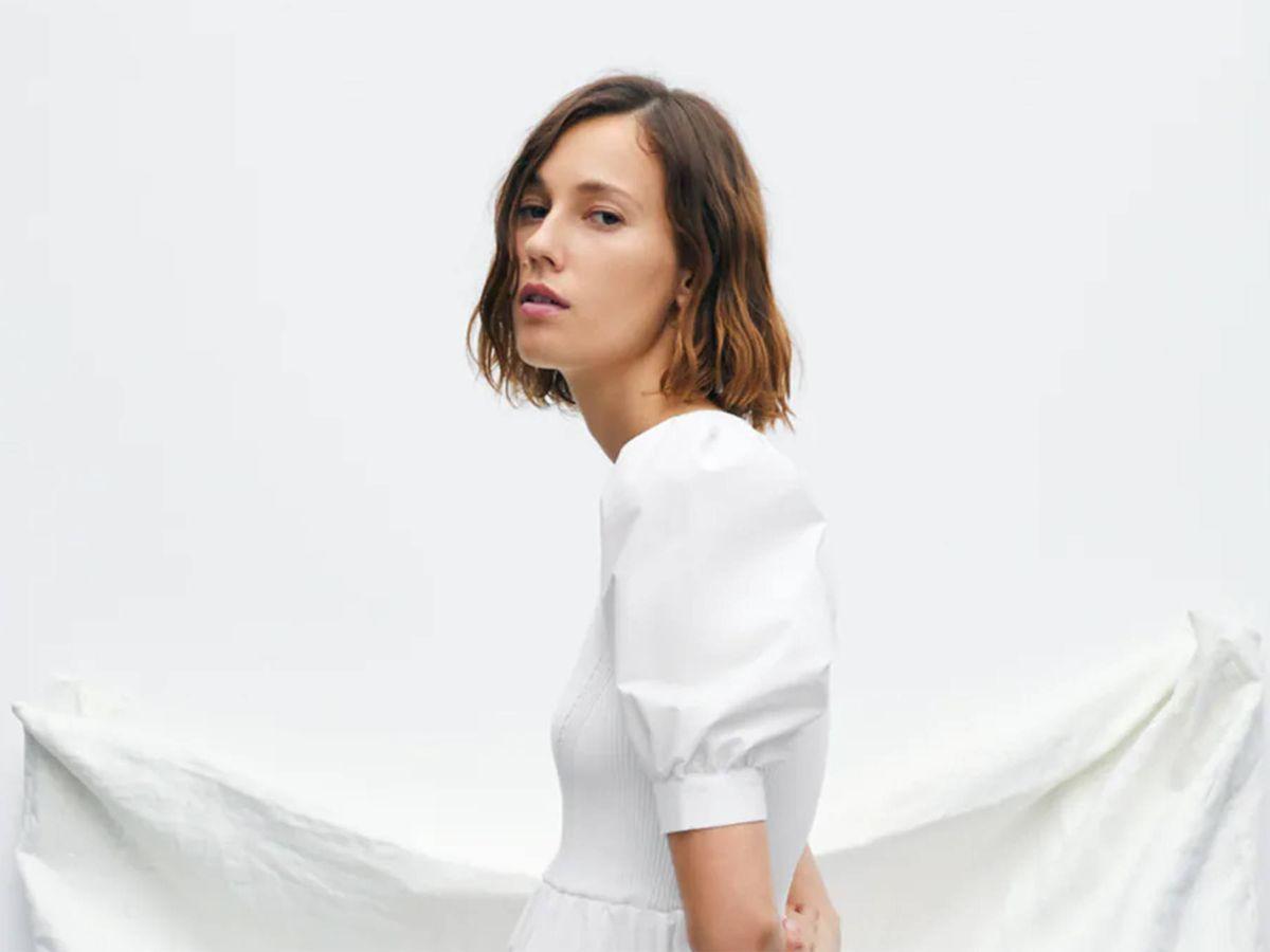 Foto: El vestido blanco de Zara perfecto para una novia. (Cortesía)