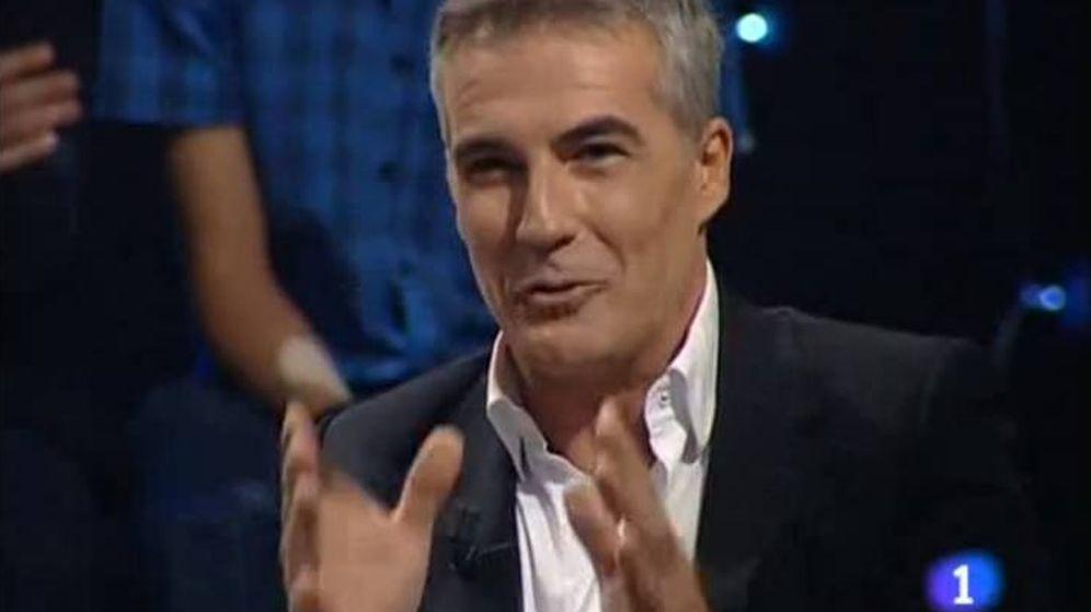 Foto: David Cantero, en el programa de La 1. (TVE)