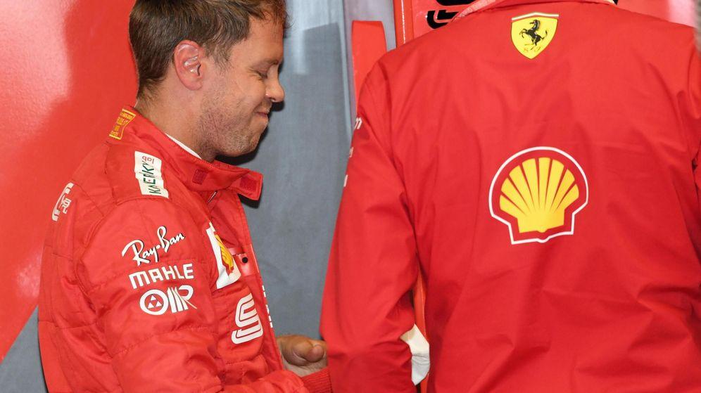 Foto: Sebastian Vettel no acabó contento con la estrategia de Ferrari. (EFE)