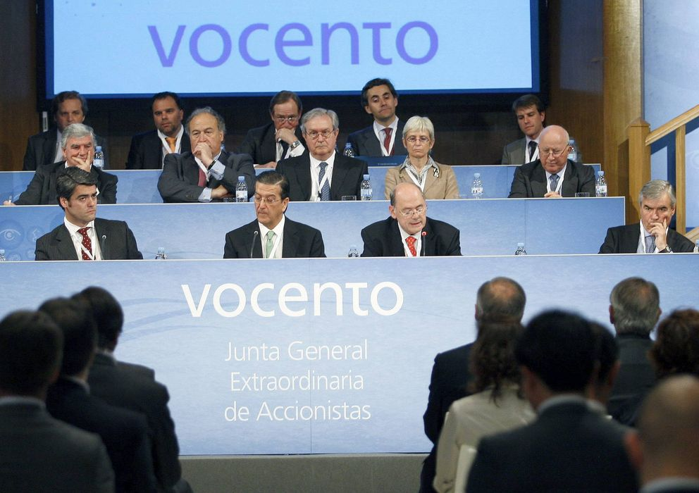 Foto: Fotografía de archivo de una junta general de accionistas de Vocento. (EFE)