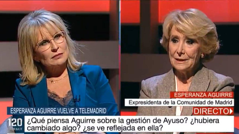 María Rey para los pies a Esperanza Aguirre en Telemadrid: Tiene todo el derecho a criticar, pero le digo una cosa...