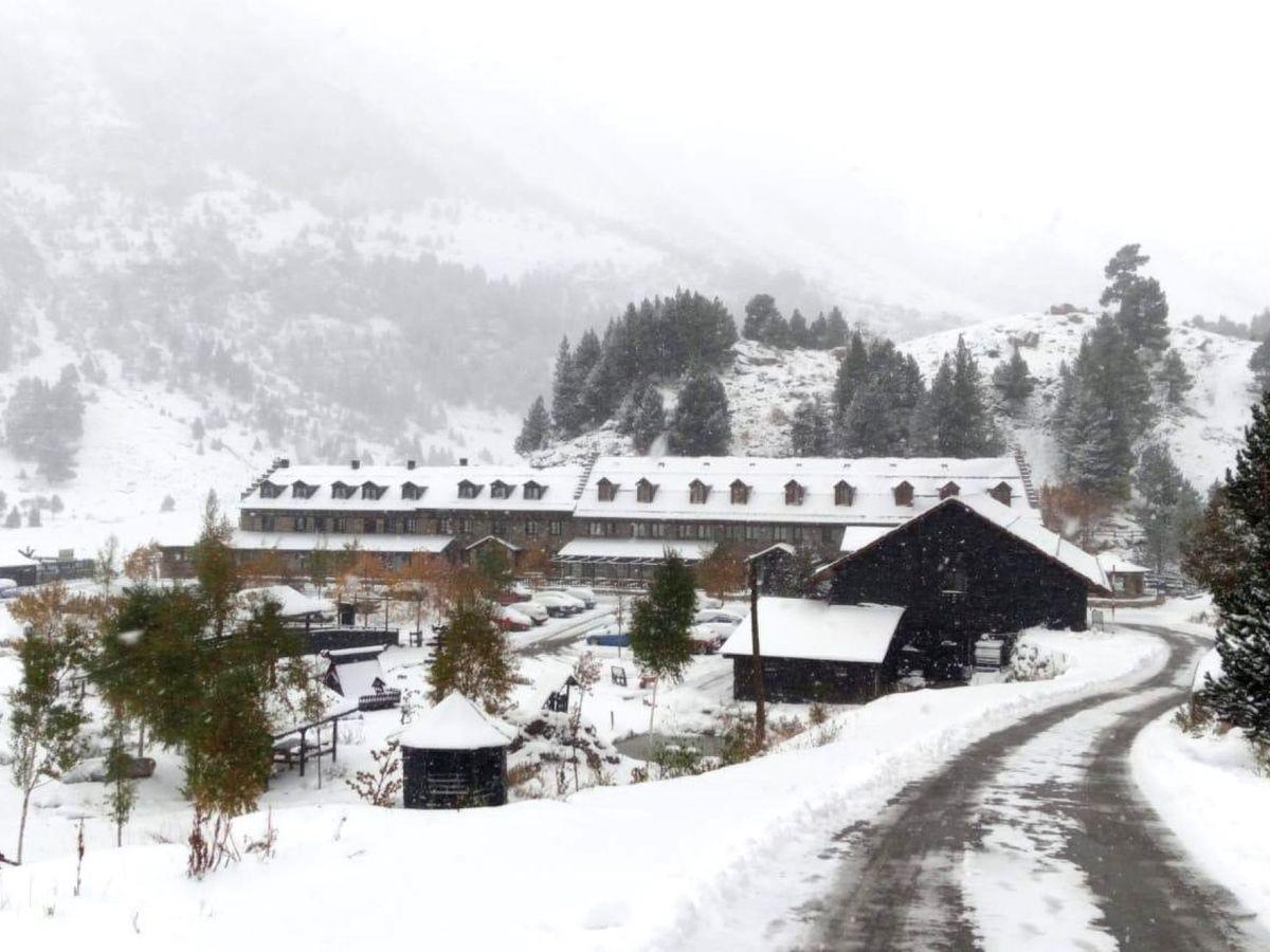 Foto: Estación de esquí de fondo de Los Llanos del Hospital, en Benasque. (EFE)