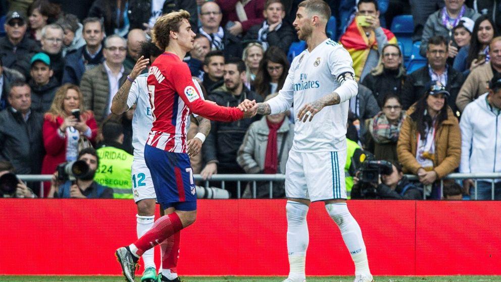 Sergio Ramos saca la escopeta con Griezmann el ignorante