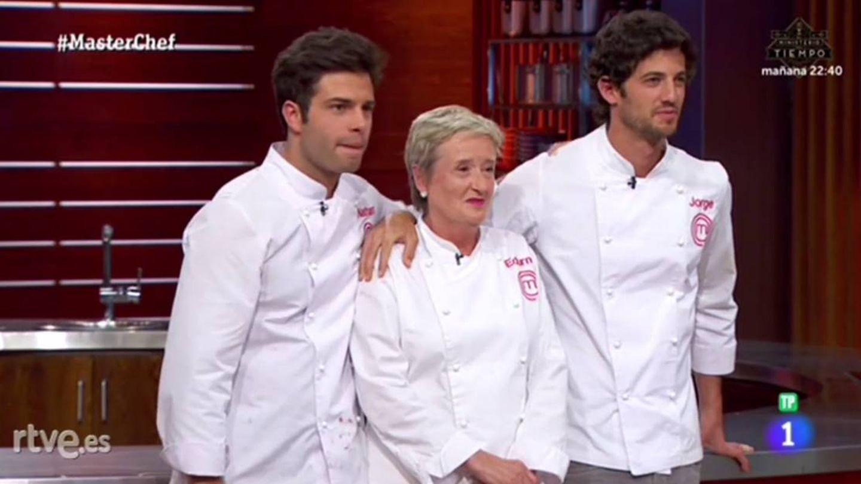 Nathan, Edurne y Jorge a punto de conocer el veredicto final de 'MasterChef 5'. (RTVE)