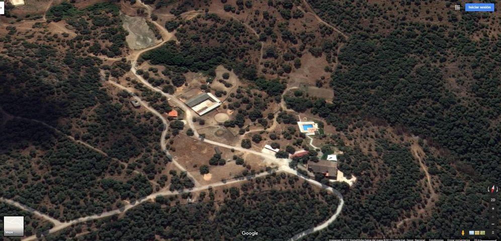 Foto: Imagen aérea de la finca de Granados. (Google Maps)