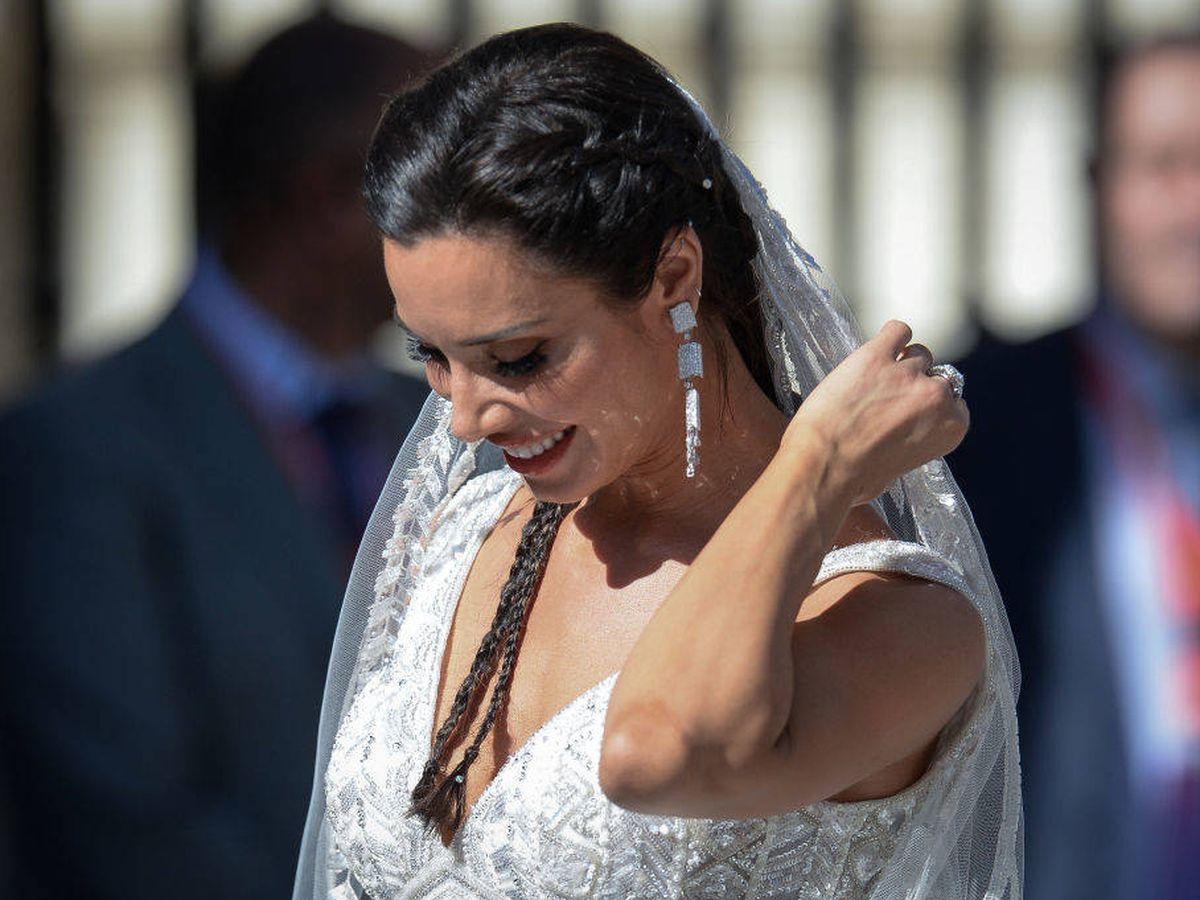 Foto: Pilar Rubio durante su boda en Sevilla. (Getty)