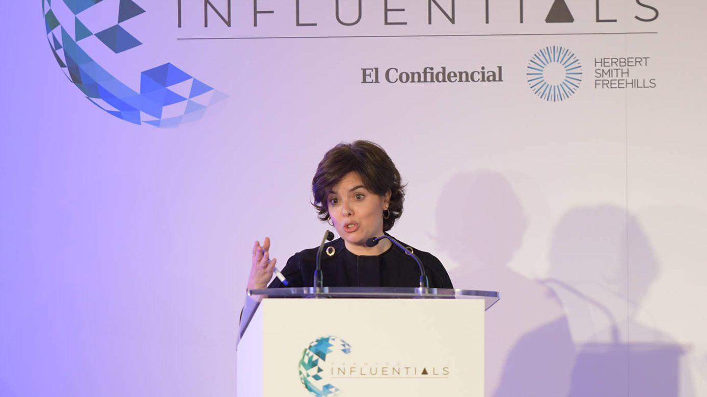 La vicepresidenta del Gobierno, Soraya Sáenz de Santamaría, clausuró los Premios Influentials.