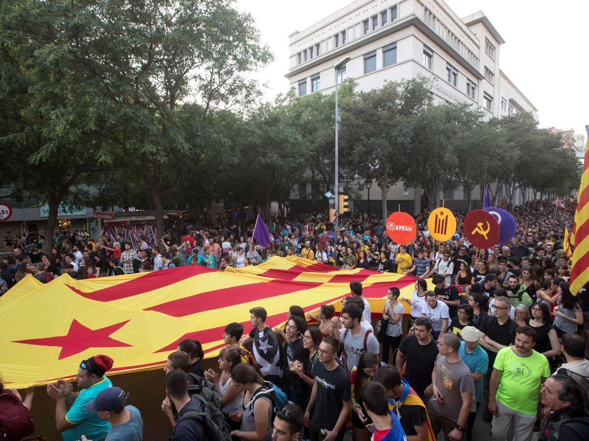 Foto: Una manifestación convocada por la CUP (EFE)