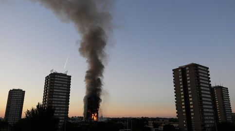 Las imágenes del incendio de la torre residencial de Londres