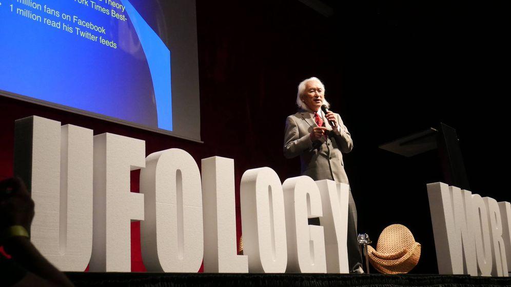 Foto: El astrofísico Michio Kaku durante su ponencia en el congreso. Foto: Nacho Amela.