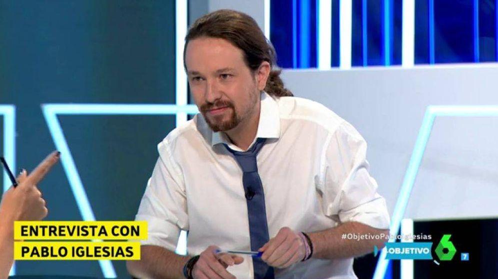 Foto: Pablo Iglesias, invitado de Ana Pastor en 'El objetivo'.