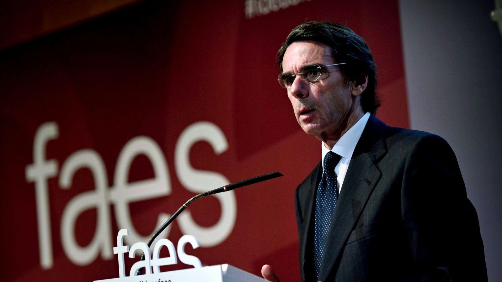 Foto: Aznar se reivindica como patrón ideológico de la derecha con su nueva FAES. (EFE)
