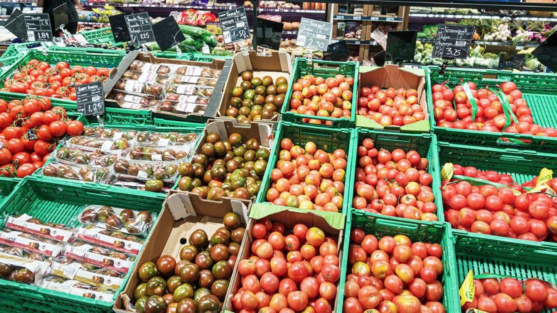 Sección de frutería de Carrefour en Barcelona.
