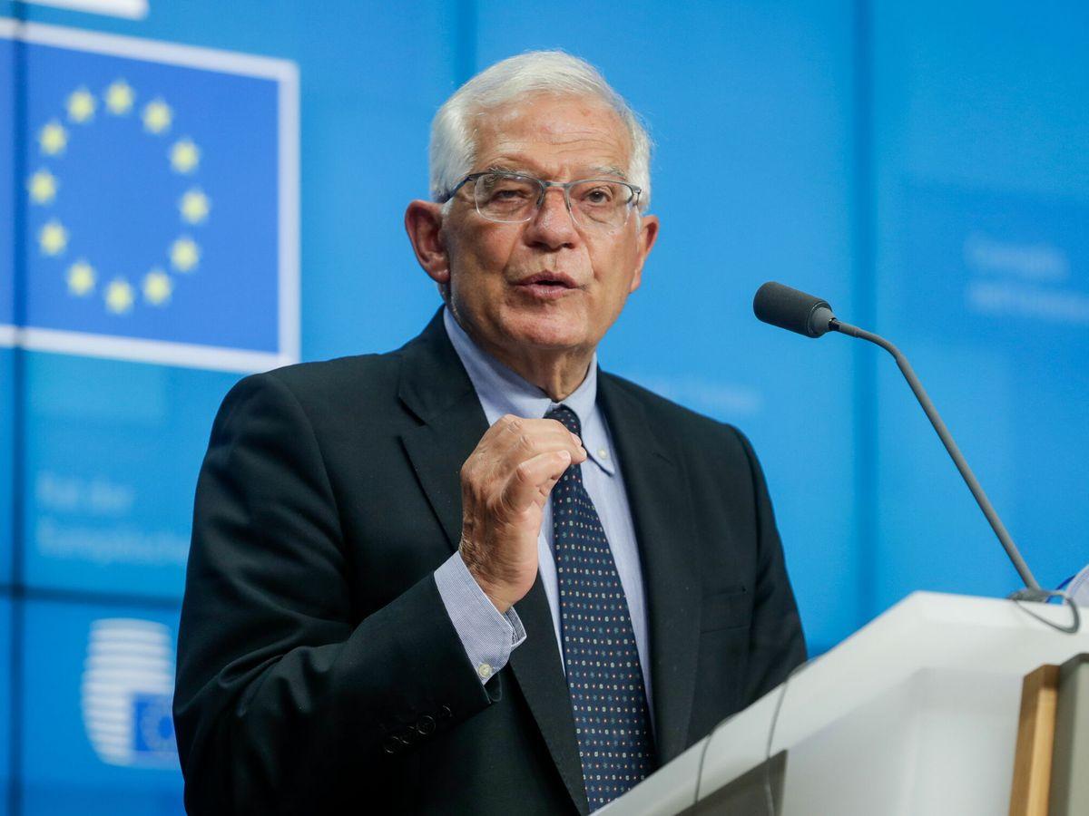 Foto: Josep Borrell, tras el Consejo de Asuntos Exteriores de la UE. (EFE)