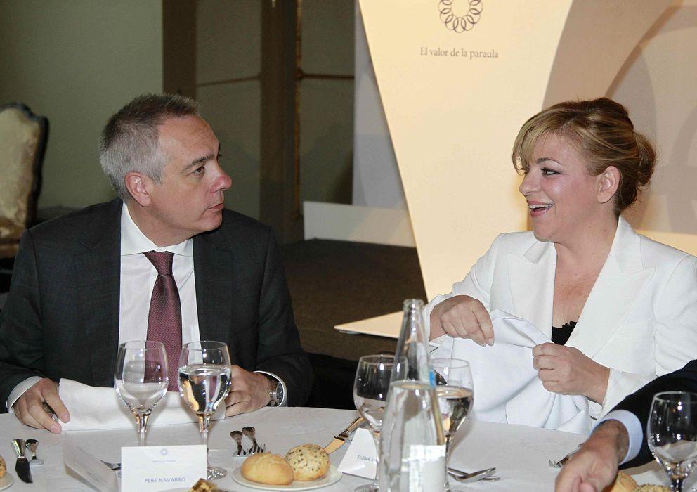 Foto: Elena Valenciano y Pere Navarro en el acto 'El futuro de Europa'. (EFE)