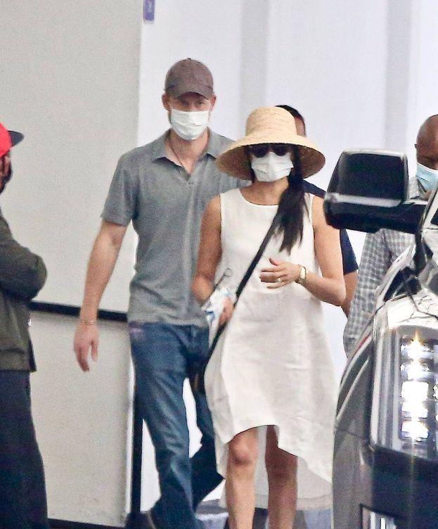 Foto: Meghan Markle y el príncipe Harry en Beverly Hills. (Lagencia Grosby)