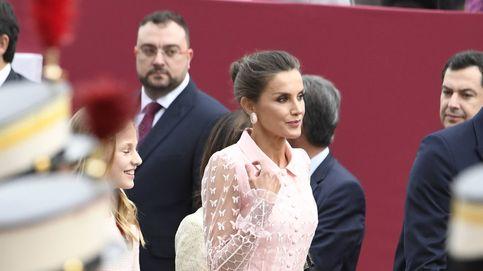 La reina Letizia, vestida de seda: su romántico vestido para el Día Nacional