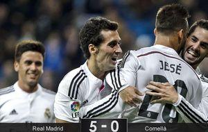 Jesé vuelve con gol y desparpajo en el examen de Ancelotti a la cantera blanca