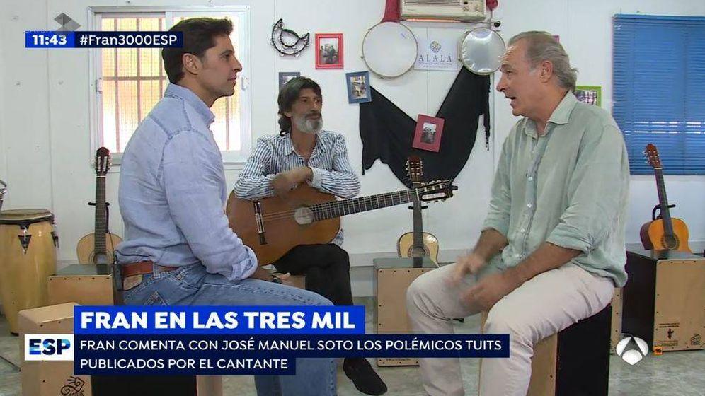 Foto: Fran Rivera y José Manuel Soto en el reportaje de las 3.000 viviendas.