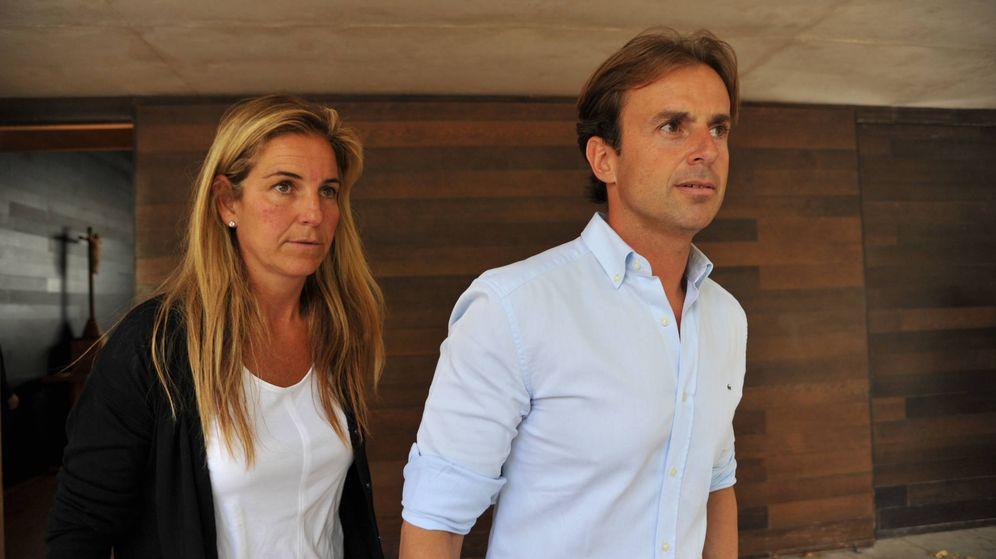 Foto: Arantxa Sánchez Vicario y Josep Santacana. (Getty)