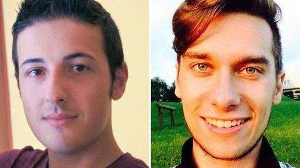 Foto: Gulotta y Russo, los dos italianos fallecidos en las Ramblas (Il Corriere)