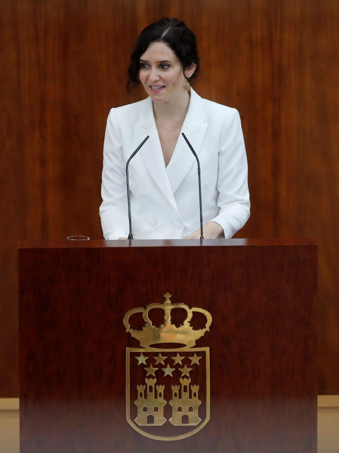 Isabel Díaz Ayuso expone su programa de gobierno. (EFE)