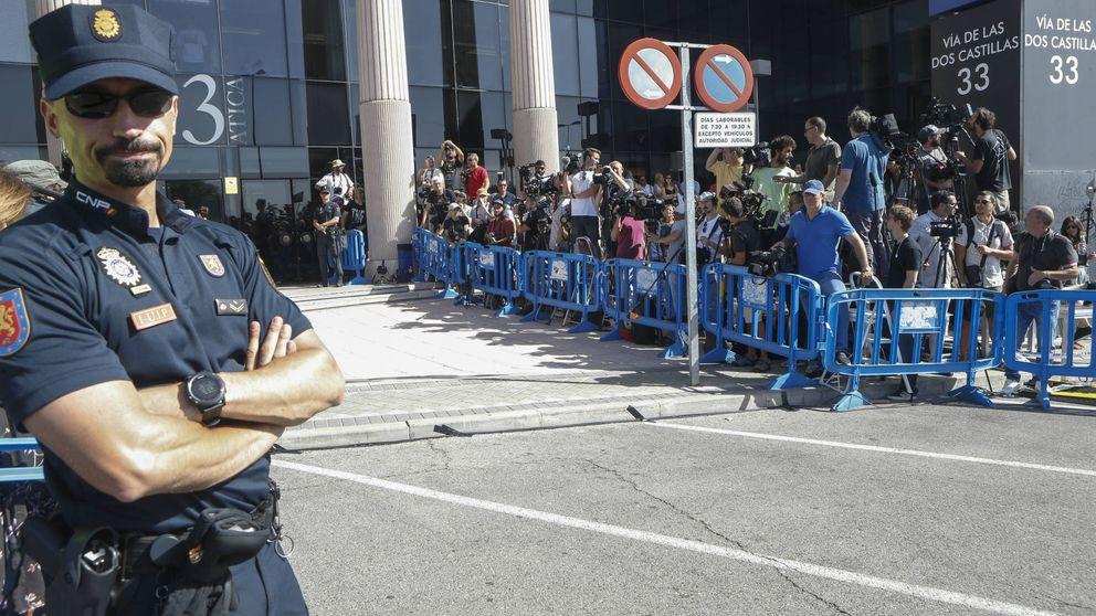 Tensión entre policía y prensa ante la declaración de Cristiano Ronaldo