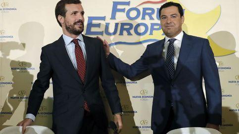 Moreno empuja a la alianza electoral 'España Suma' para derrotar a Sánchez