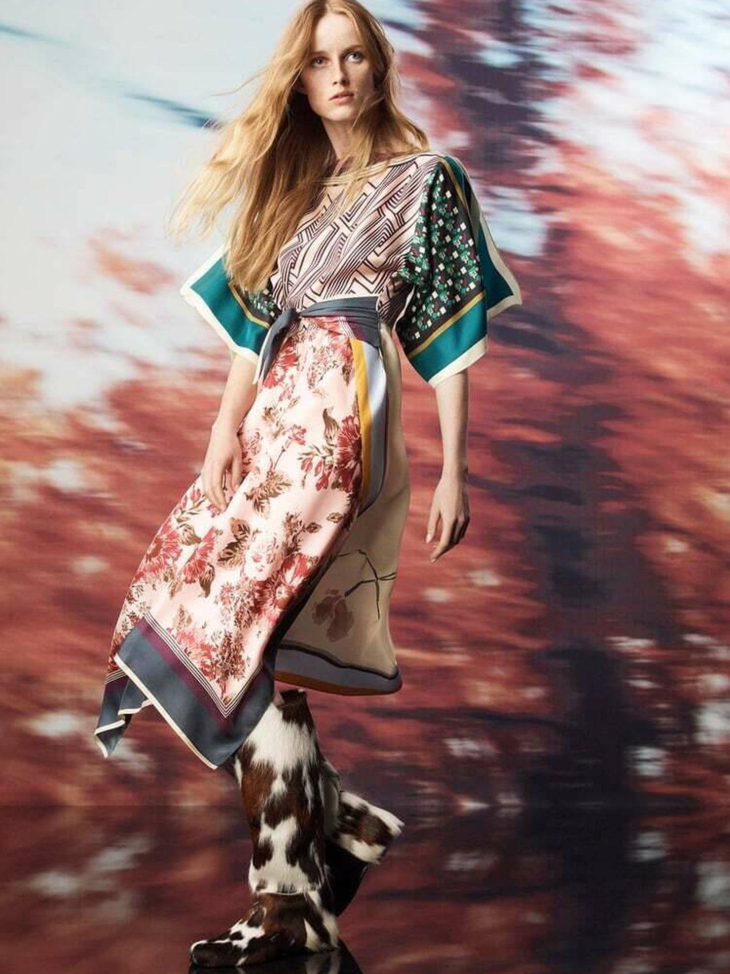 El nuevo vestido de Zara de la colección Scarf Collection Limited Edition. (Cortesía)