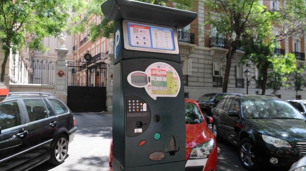 Foto: Imagen de archivo de un parquímetro en el barrio Los Jerónimos. (Foto: Ayuntamiento de Madrid)
