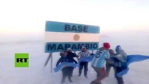 Así celebran en la Antártida la victoria de Argentina en el Mundial