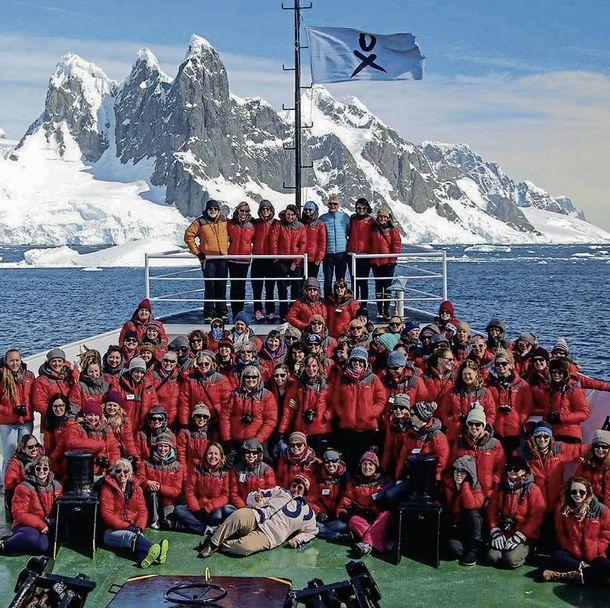 Foto: La primera expedición del Homeward Bound Project viajó a la Antártida a finales de 2016.