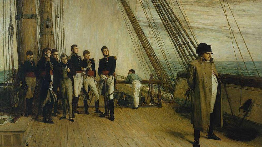 Foto: Napoleón camino del exilio en Santa Helena