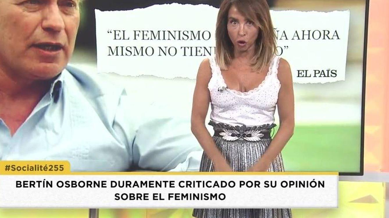 María Patiño da la puntilla a Bertín Osborne tras su polémica sobre el feminismo
