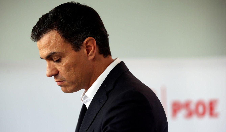 Foto: Pedro Sánchez, durante su comparecencia en Ferraz este 30 de septiembre. (Reuters)