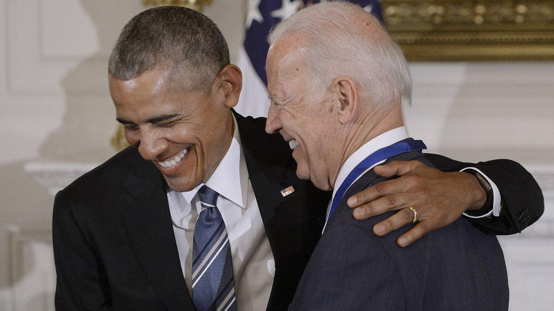 Obama y Biden, en 2017. (Getty)