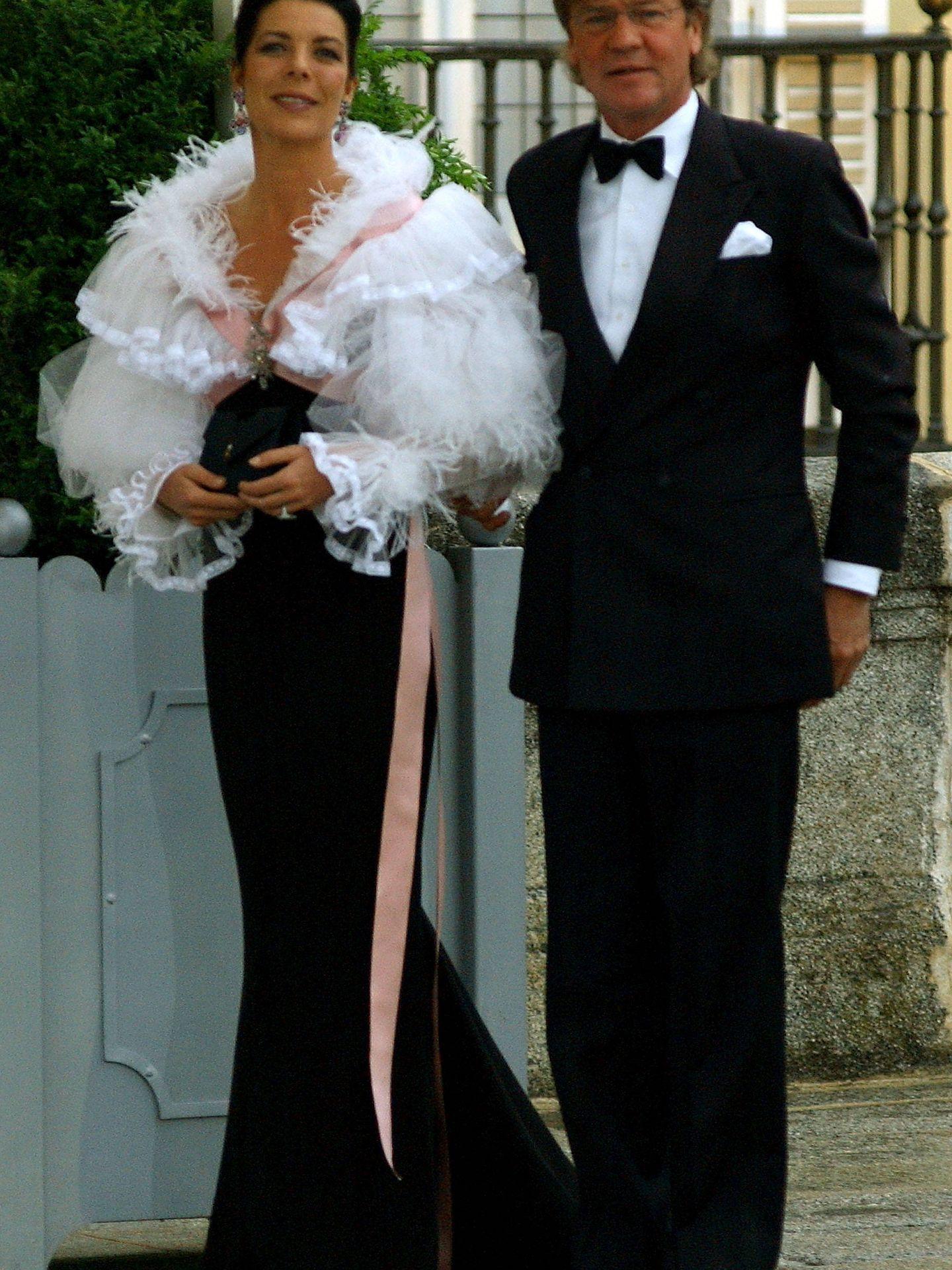 Carolina de Mónaco y Ernesto de Hannover, en 2004. (Getty)
