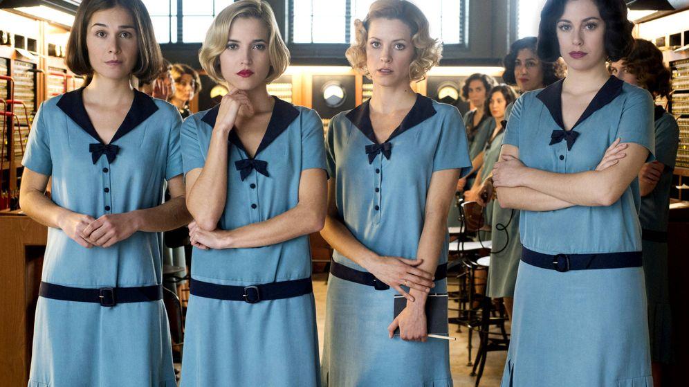 Foto: Las protagonistas de 'Las chicas del cable': Nadia De Santiago, Ana Fernández, Maggie Civantos y Blanca Suárez (Netflix)