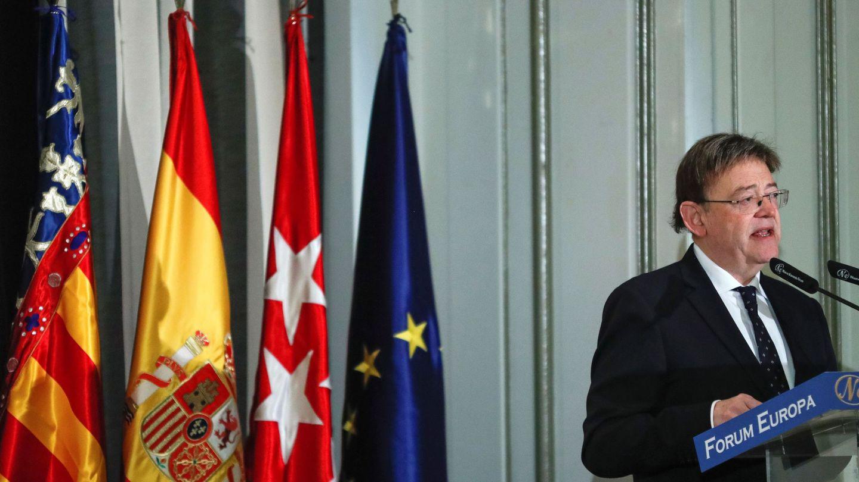 Ximo Puig, esta semana en el Forum Europa en Madrid. (EFE)