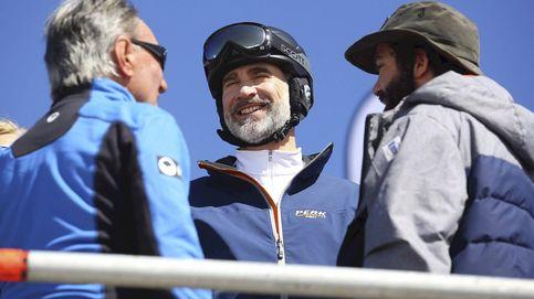 El Rey Felipe VI, apoyando al equipo español en las pruebas de snowboard