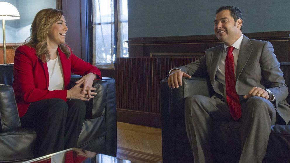 El PP andaluz alienta el gran pacto con el PSOE y cerca a Susana Díaz
