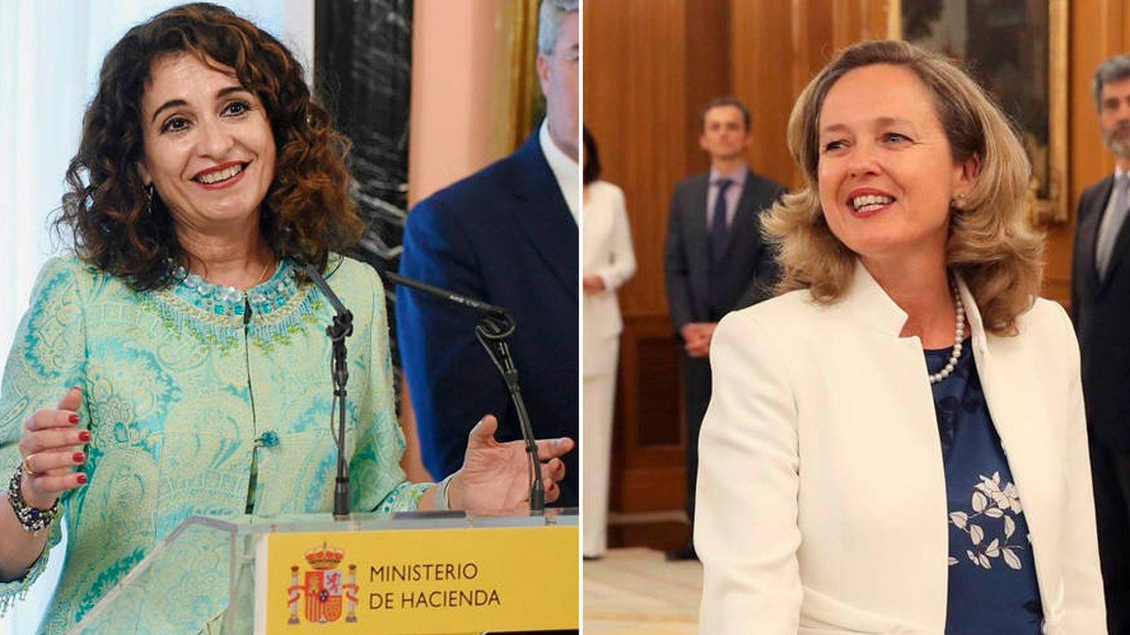 Foto: La ministra de Hacienda, María Jesús Montero (i), y la ministra de Economía, Nadia Calviño. (EFE)