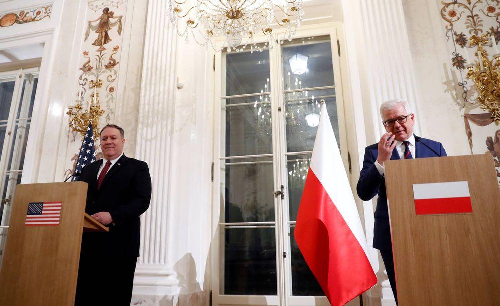 Foto: Czaputowicz, ministro de Exteriores polaco, junto a Mike Pompeo durante una rueda de prensa en Varsovia. (Reuters)