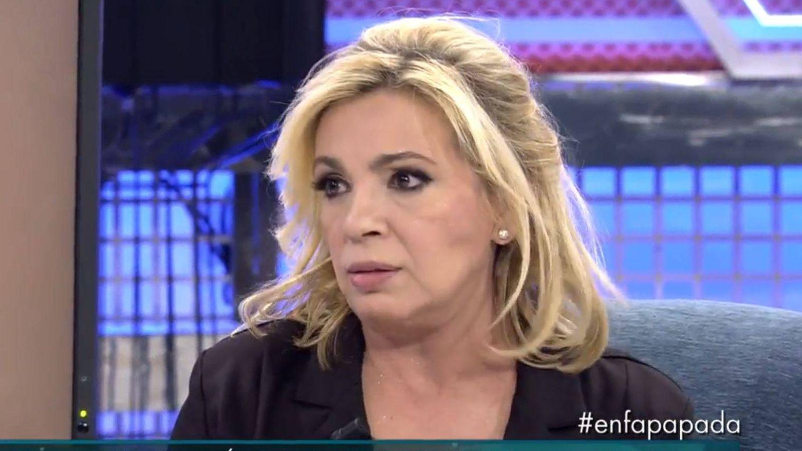 Foto: Carmen Borrego en 'Sálvame'. (Mediaset España)