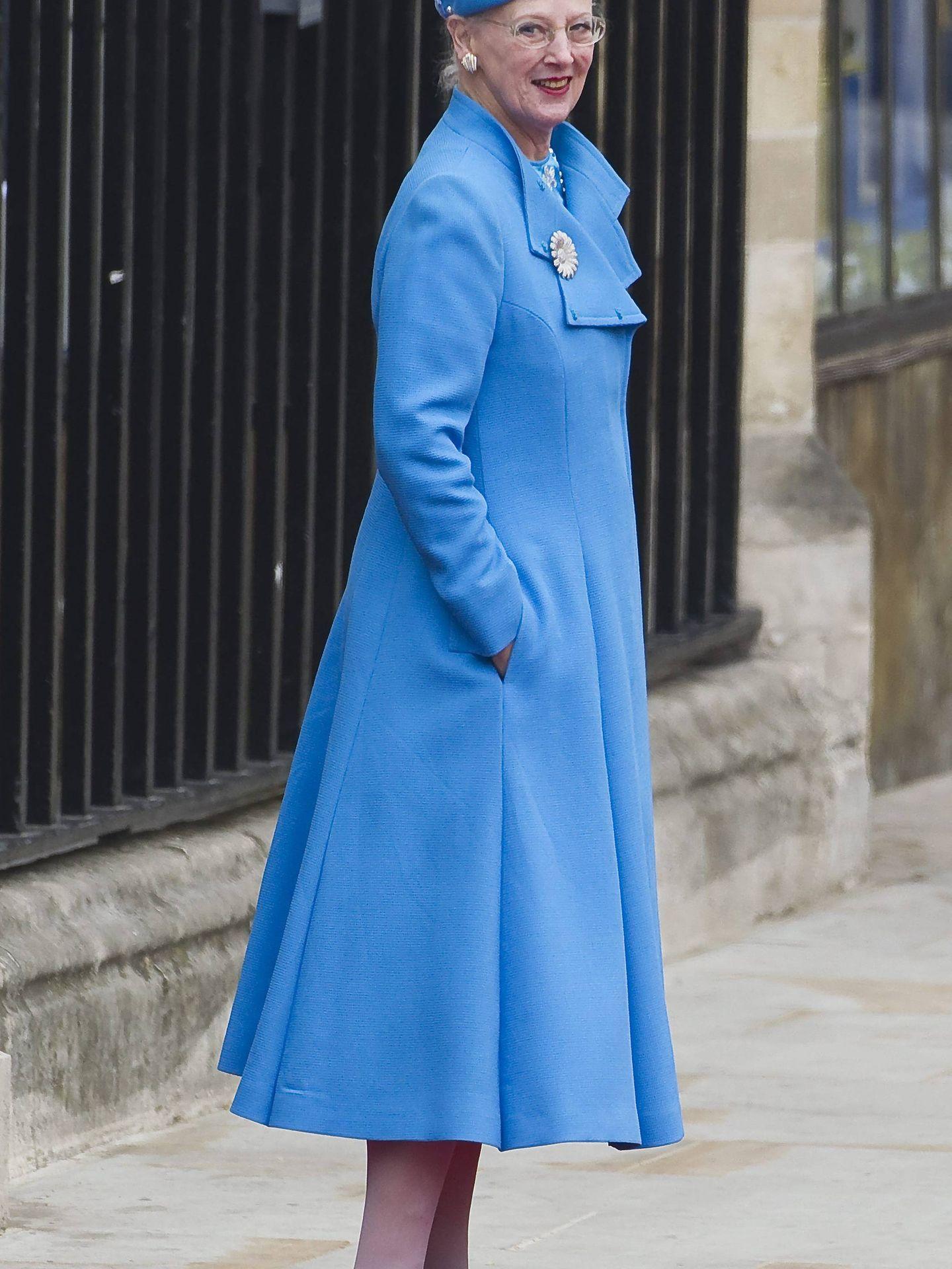 La reina Margarita II de Dinamarca, en la abadía de Westminster. (EFE)