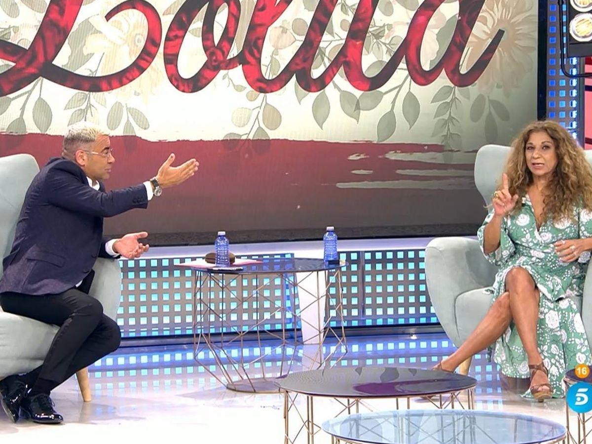 Foto: Jorge Javier y Lolita, en 'Sábado Deluxe'. (Telecinco).