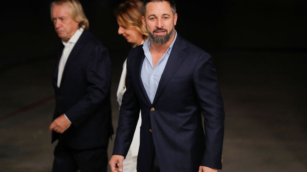 Foto: Santiago Abascal llega al Palacio de la Casa de Campo (Reuters)
